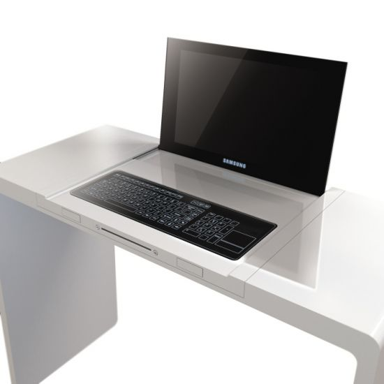 Ordinateur bureau design geek hype for Bureau informatique design
