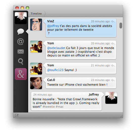 Tweetie for Mac : Tweetez avec style