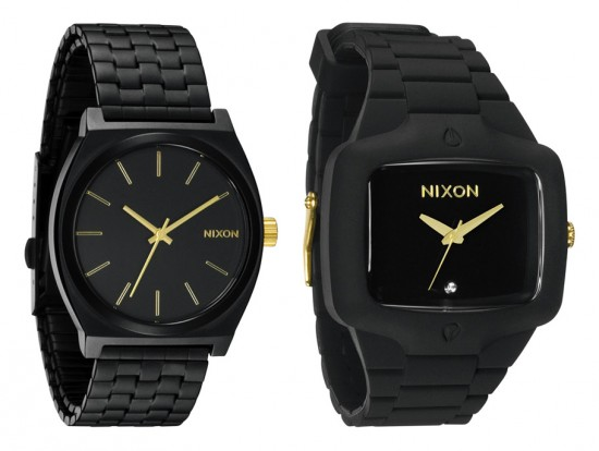 Image nixon summer black gold 2 550x414   Nixon Summer Black/Gold Collection