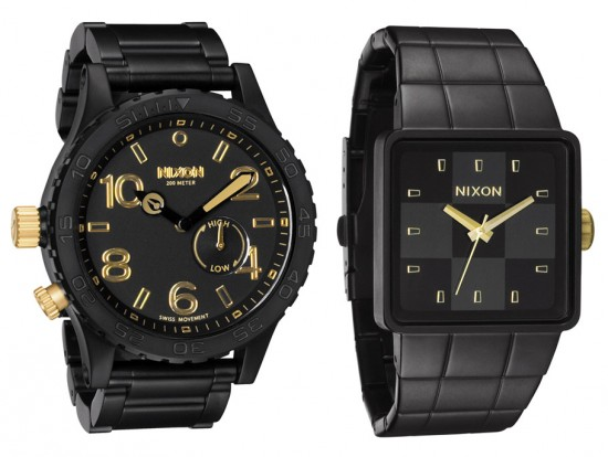 Image nixon summer black gold 3 550x414   Nixon Summer Black/Gold Collection