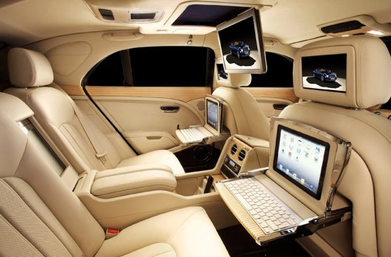 Image bentley mulsanne ipad 550x362   Bentley Mulsanne Executive Interior