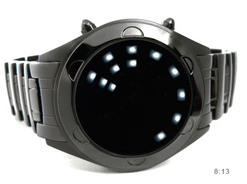 Montre noir led for Miroir noir watch online
